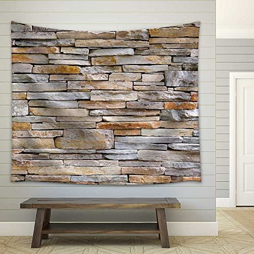 Pattern of Stone Wall Decorative Surfaces Fabric Wall
