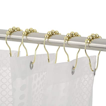 Soqool Stainless Steel Hooks Closet Hanging Hooks Shower Curtain Rings 12  Pack S Shaped Hanger Kitchen