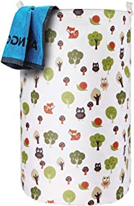 "ASMOTIM 25.6"" Foldable Laundry Hamper Extra Large & Tall Collapsible Laundry Basket with Handles Waterproof Coating Dirty Clothes Storage Organizer Baskets Folding Toy Collection"