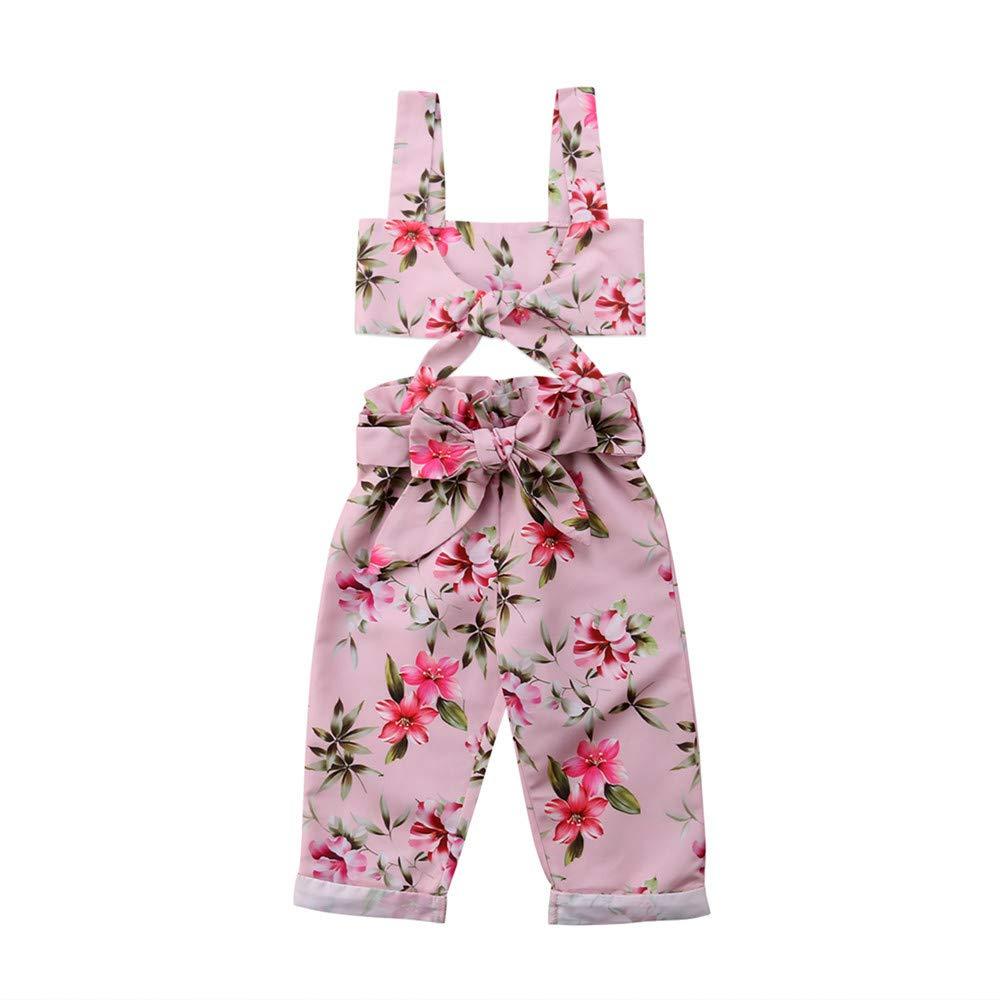 Wang-RX Toddler Kids Baby Girl Floral Camisetas sin Mangas ...
