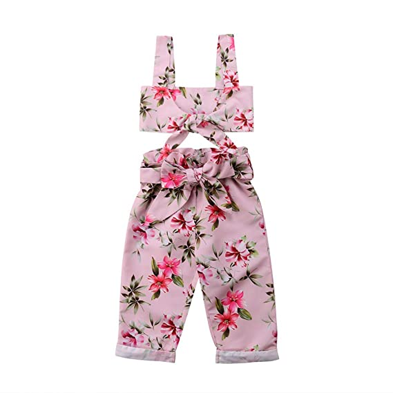 Wang-RX Toddler Kids Baby Girl Floral Camisetas sin Mangas Chaleco ...