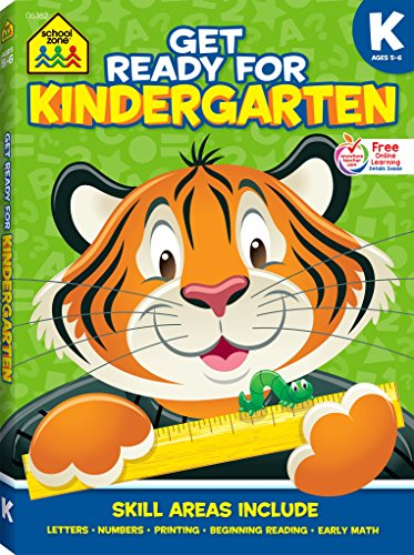 School Zone - Get Ready for Kindergarten Workbook, Age 5 to 6, Alphabet, ABCs, Letters, Tracing, Printing, Numbers 0-20, Early Math, Shapes, Patterns, Comparing, and More
