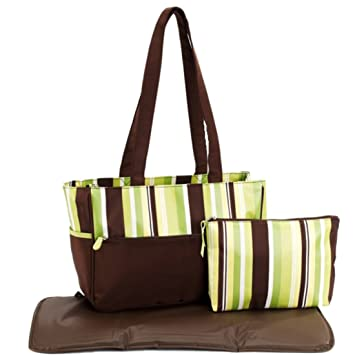 Amazon.com: Pretty Baby bolsa – Bolso cambiador de rayas ...