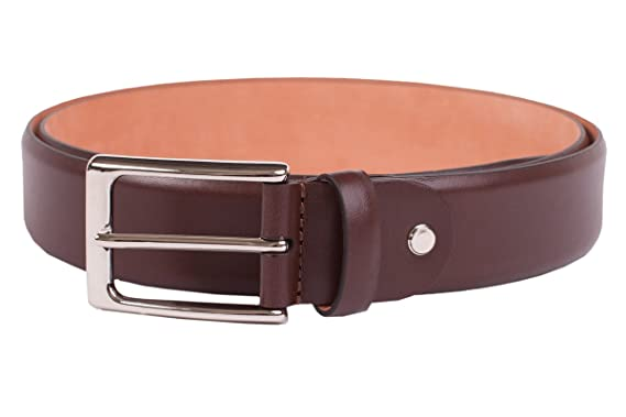 d4e660bf49f611 Leder-Gürtel für Herren in braun: aus 100% Kalbsleder, hergestellt in  Handarbeit