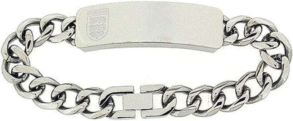 Con licencia oficial de escudo de Inglaterra de caballero con caja de presentación de la pulsera de 20,96 cm: England: Amazon.es: Joyería