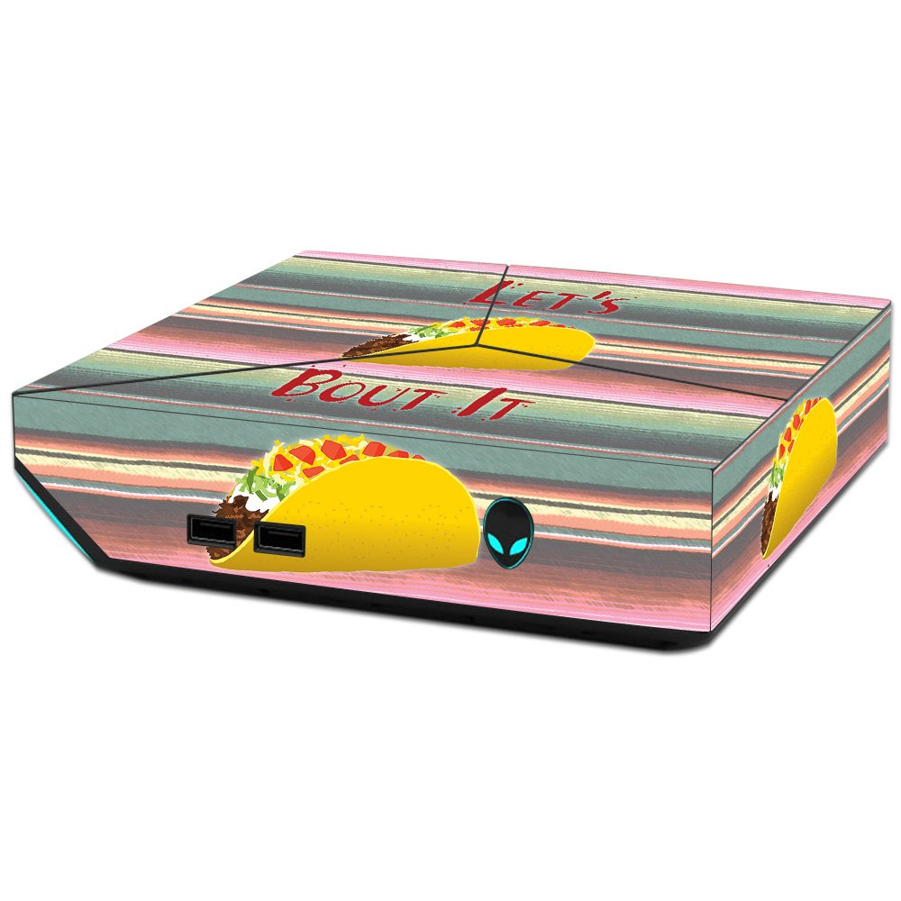 MightySkins Skin For Alienware Steam Machine - Lets Taco Bout It   Protective, Durable, and Unique Vinyl Decal wrap cover   Easy To Apply, Remove, and Change Styles   Made in the USA
