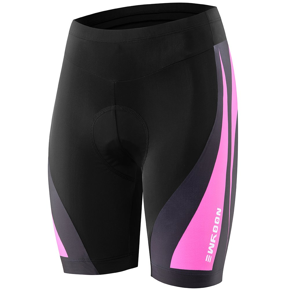 NOOYME (Cycling Season Deal) Women's Bike shorts 3D Padded Cycling Short with Ride in Color Design Cycling Shorts, 01 Fuchsia Pink, X-Large by NOOYME