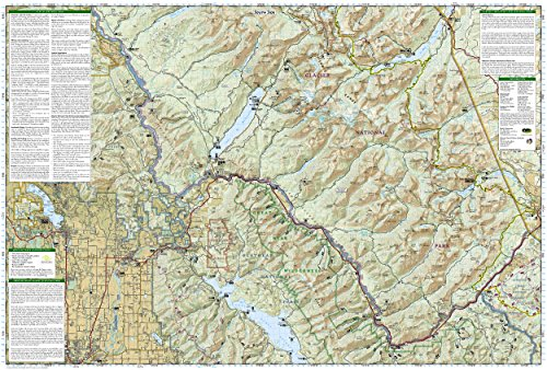 Amazon Glacier And Waterton Lakes National Parks: Glacier National Park Topographic Map At Slyspyder.com