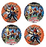 4 Thundercats Happy Birthday Mylar Balloons - Bouquet of 4 Thundercats Foil Balloons