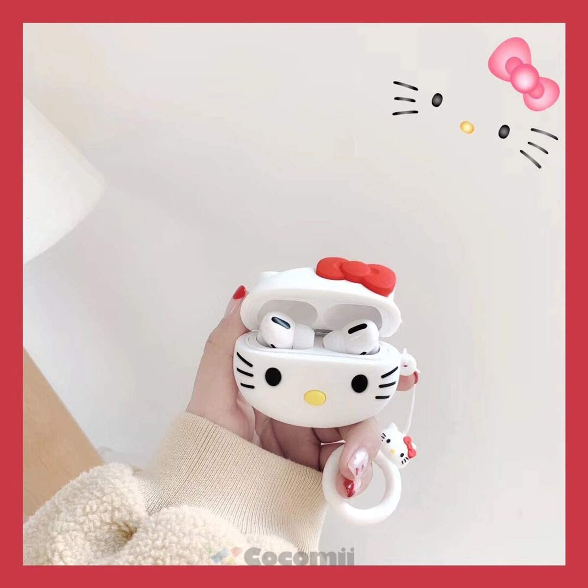 New hello kitty key chain flexible toy key chain new in package