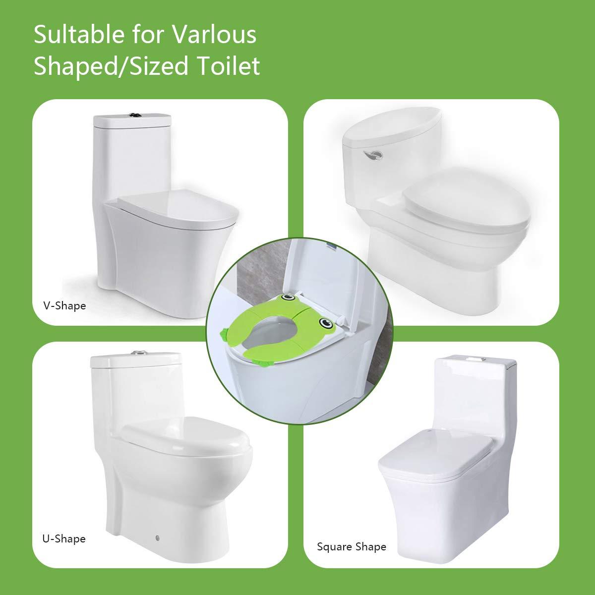 Welltop Asiento de inodoro Almohadillas de asiento de inodoro port/átiles para viajes de entrenamiento para inodoros port/átiles para ni/ños de beb/és