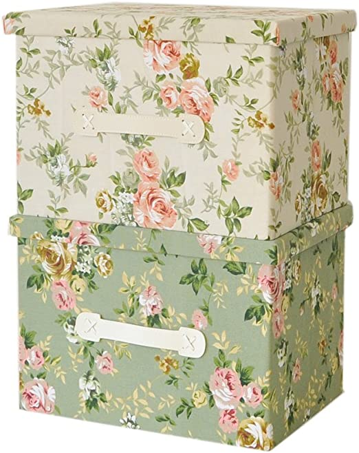 Caja de almacenaje plegable hecha de lona, para guardar ropa, tela ...