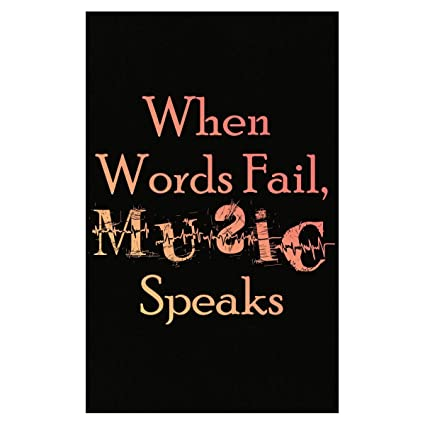 amazon com hushtee when words fail music speaks cool creative
