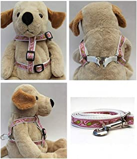 "product image for Diva-Dog 'Boho Pastel' Custom 5/8"" Wide Dog Step-in Harness with Plain or Engraved Buckle, Matching Leash Available - Teacup, XS/S"