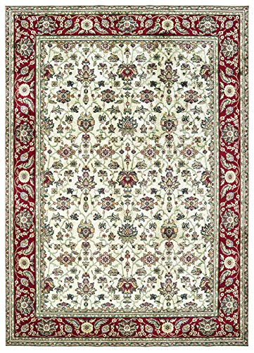 United Weavers Royalton Area Rug 853 10515 Lancaster Ivory Petals Ovals 9' x 12' Rectangle