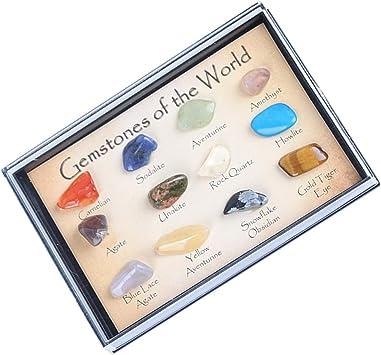 Muestra de Rocas y Minerales con Caja de Presentación Herramienta de Enseñanza de Geología para Niños: Amazon.es: Juguetes y juegos