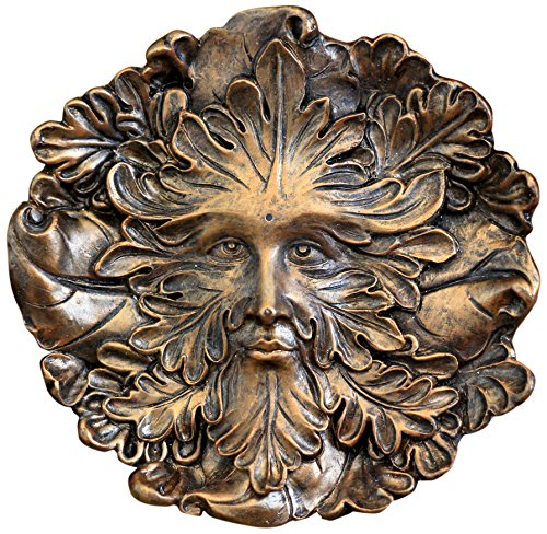 Top Collection Miniature Fairy Garden and Terrarium Green Man Face Incense Holder, 4.75-Inch