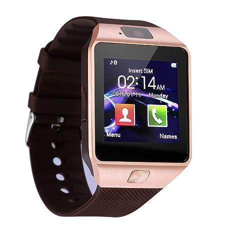 Bluetooth Inteligente Reloj Soporte SIM Tarjeta SD Monitor de sueño DZ09 Pantalla táctil Smartwatch con cámara