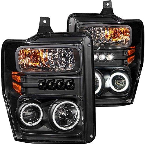 2008-2010 Ford F250 F350 F450 Dual Halo Headlights Projector + 8 Led Fog Bumper Light