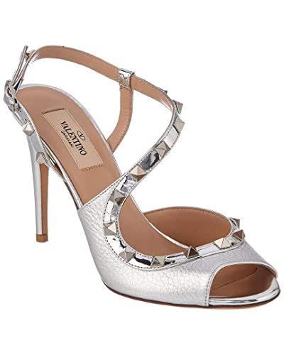 cac31a355d4 Image Unavailable. Image not available for. Color  VALENTINO Rockstud 100  Leather Pump