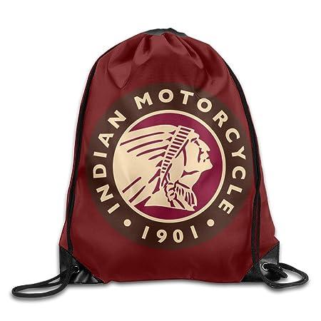 PefaMQa Indian Motorcycle 1901 Travel Shoulder Bags Drawstring Backpack//Rucksack