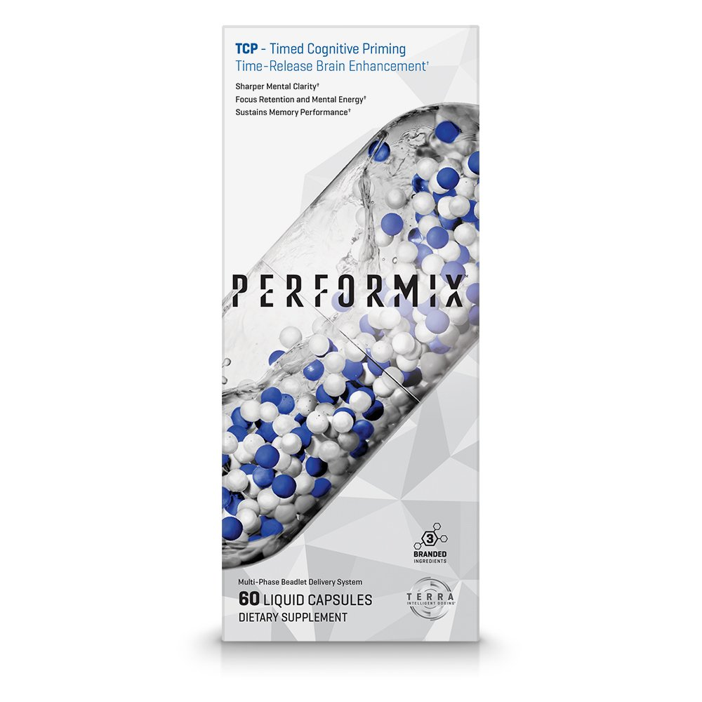 PERFORMIX TCP - Timed Cognitive Priming, Sharper Mental Clarity, Focus and Memory, 60 Count