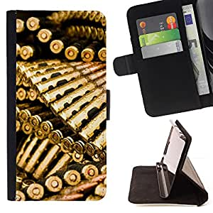 Jordan Colourful Shop - Golden Bullets Ammo For Samsung Galaxy S4 Mini i9190 - Leather Case Absorci???¡¯???€????€?????????
