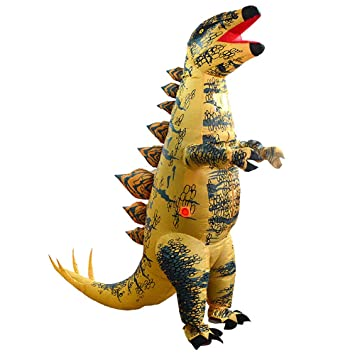 JASHKE Traje Inflable Stegosaurus Disfraz de Fiesta de Carnaval de Halloween