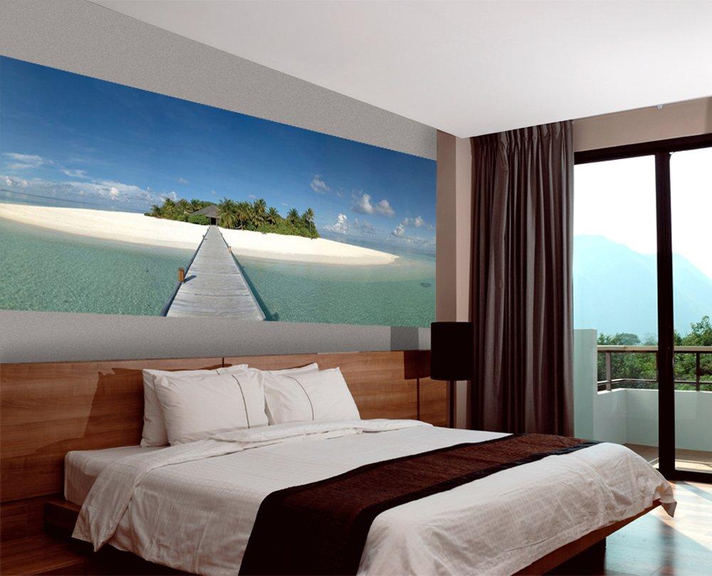 JP London UMB91128 Prepasted Ultimate Path to Paradise Beach Getaway Panoramic Wall Mural 10.5-Feet Wide by 4-Feet High