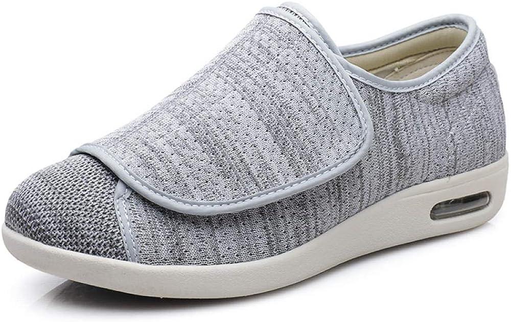 Mujer Zapatos Diabeticos,Zapatos Flojos del valgus del Pulgar, Zapatos diabéticos de Apertura Completa de los pies deformados, hinchados Extra Ancha Zapatillas para Unisex