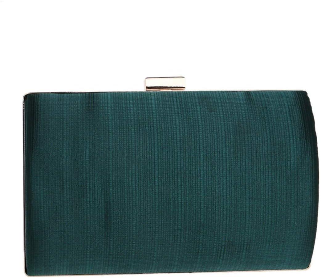 BAOLH Womens Pochette Geometrica del Modello Minimalista Signore Eleganti Signore Portafoglio Evening Bag a Tracolla Diagonale Borsa Cross-Corpo Bag Moda (Color : Red) Green