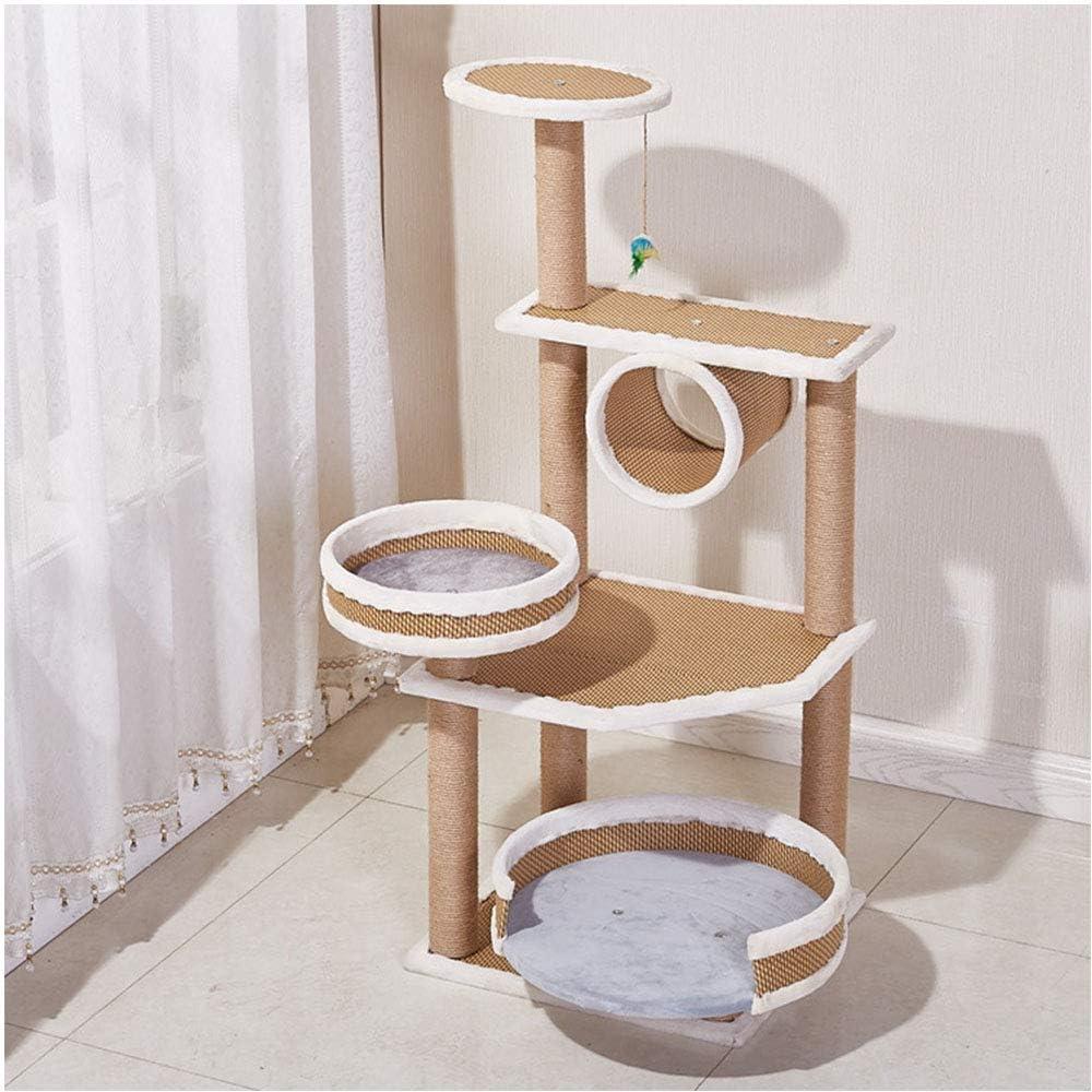 DAYUMAOJIN 猫の木、ホーム猫登山フレーム小さな寝台ベッドサイドテーブルジャンププラットフォームサイザル猫スクラッチボードソフト感ぬいぐるみ猫の木、椅子