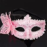 Facial Hair Styles Personality - Mardi Gras Party Masquerade Mask,Halloween mask Side Butterfly Half face Princess Venice mask Party Makeup Dance Sexy Fun Party Female Pink Prom Masks