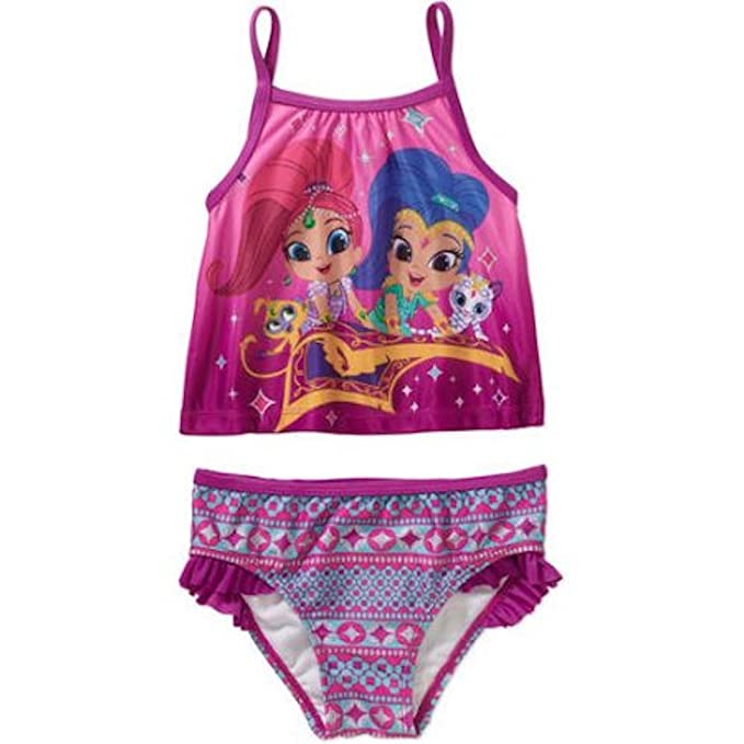 b261b34a36024 Amazon.com: Shimmer & Shine Toddler Girls' Tankini 2-piece Swimsuit ...