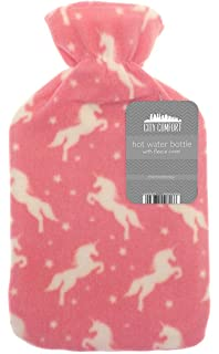 Colour Received Varies 1.8 Litre Cassandra Hot Water Bottle In Supersoft Fleece Removable Cover Star and Moon Designs BS1970//2012 5 Year Guarantee