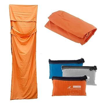 Docooler - Saco de dormir multifunción para viaje, 210 x 70 cm, arancione: Amazon.es: Deportes y aire libre