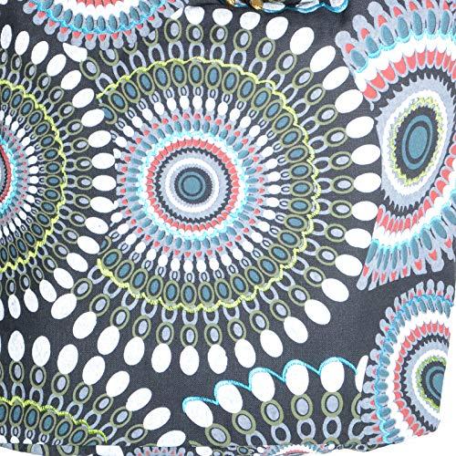 Shoulder blanc et à colorés motifs noir à Bag psy bandoulière Magic Sac Art And 7wOqSWE