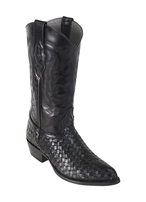Men's J-Toe Genuine Leather Stingray Skin Western Boots