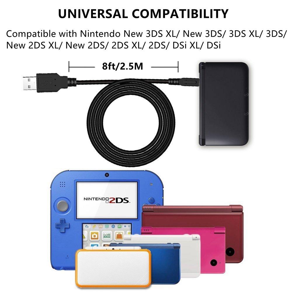 Amazon.com: Connyam - Cable de carga USB para Nintendo New ...