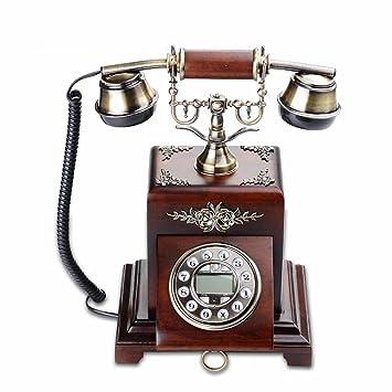 LINGZHIGAN Holz Metall Alt Stil Retro Festnetz Telefon Telefon ...