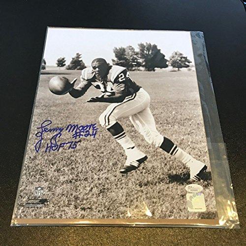 Lenny Moore #24 HOF 1975 Signed Autographed Baltimore Colts 11X14 Photo JSA ()