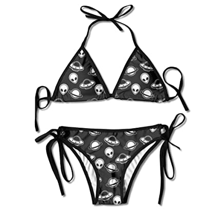 06af3db54f36 ART TANG Perfect Gift For Women - Aliens Space Ufo Summer Sexy Two Pieces  Halter Bikini