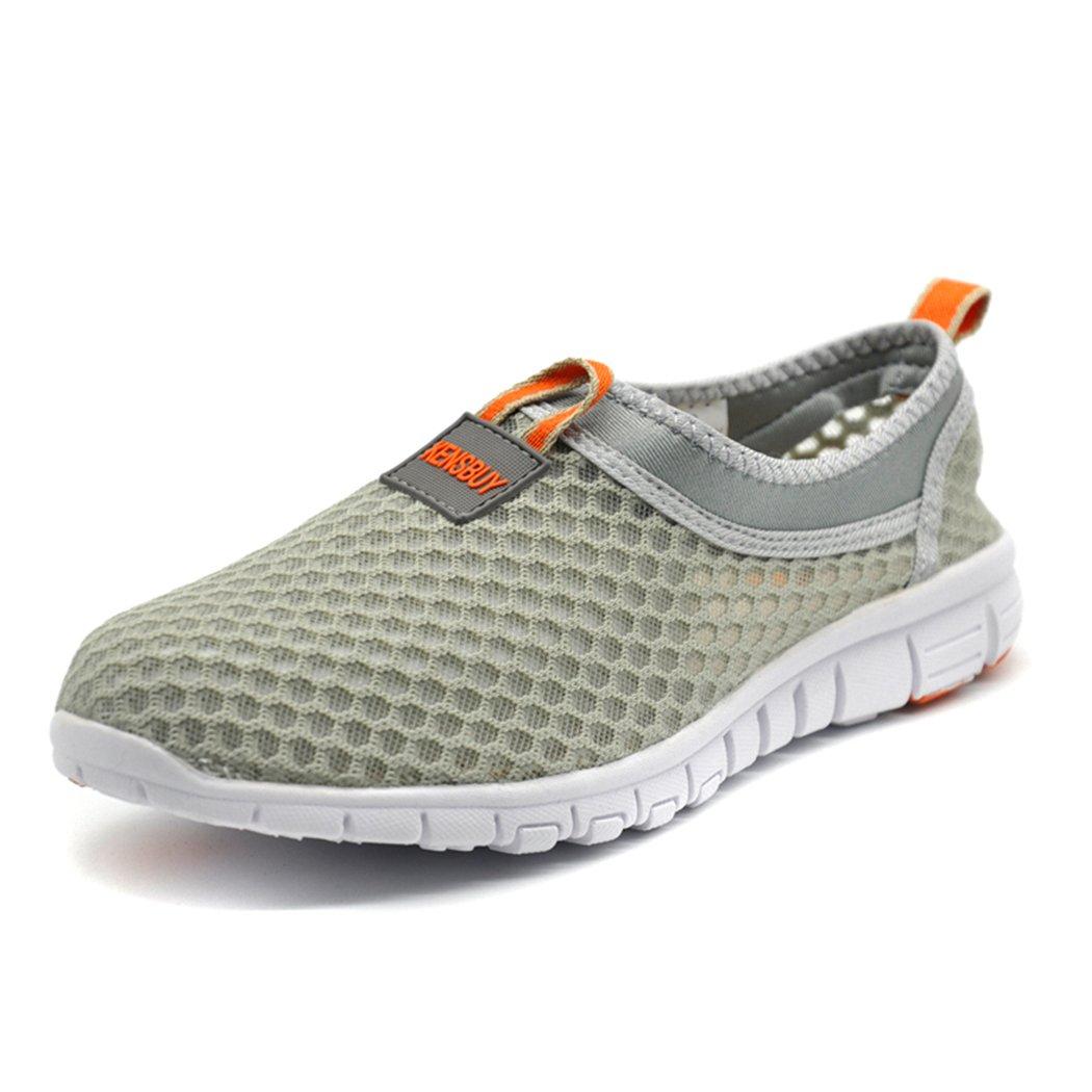 EVILDOER Womens& Men's Slip-on Mesh Shoes,Ultralight Breathable Running Shoes B017GV1RKM 9.5 D(M) US|Orange