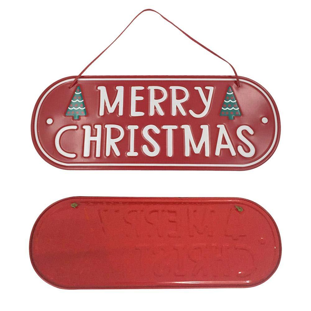 Artículos De Fiesta Feliz Navidad Número De Casa Puerta