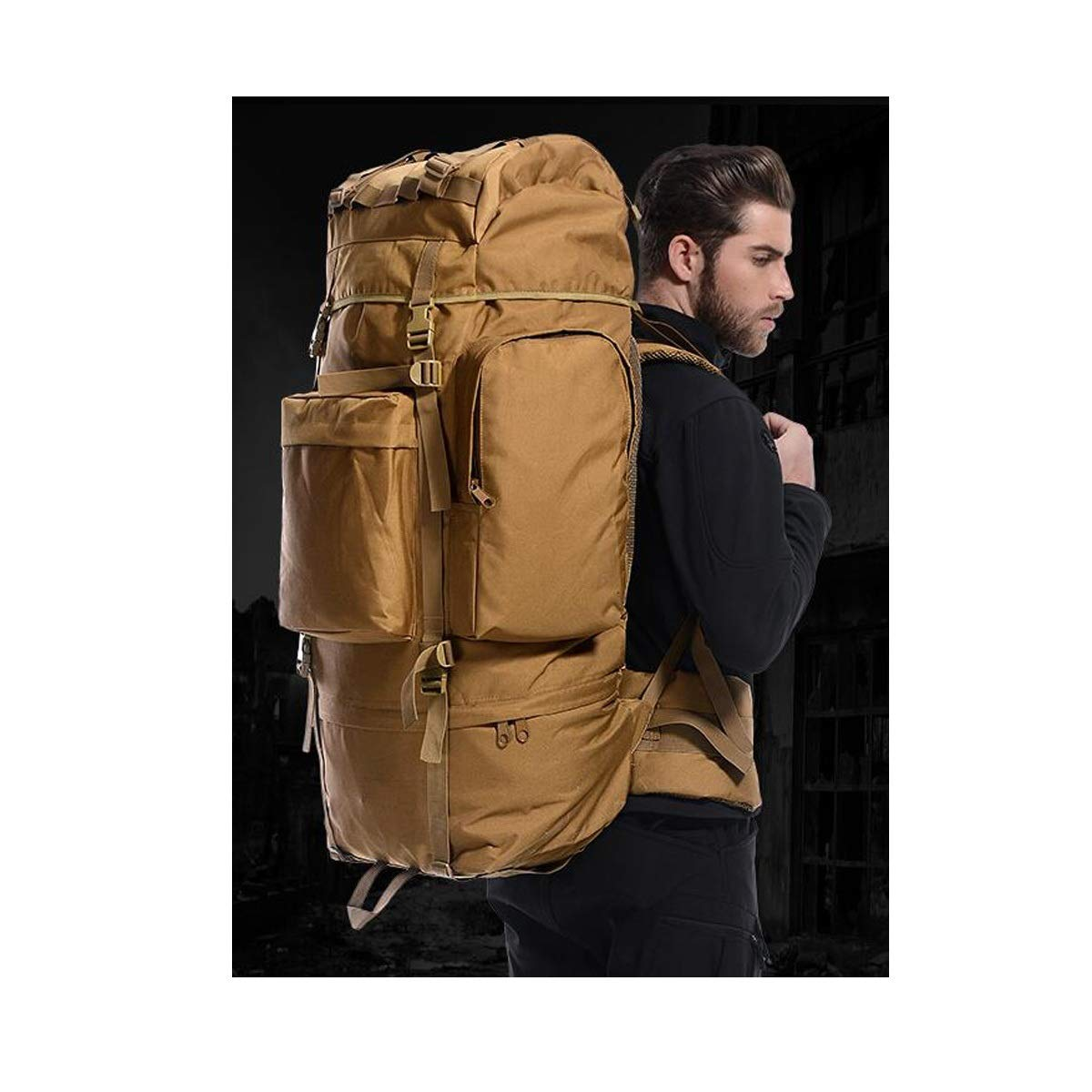 70L Latest Models Haoyushangmao Hiking and Camping Inner Frame Waterproof Backpack-115L Color : Jungle Color, Size : 115L