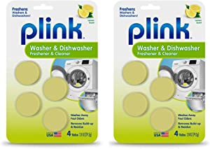Plink Washer and Dishwasher Freshener, Phosphate and Bleach Free, Deodorizer and Cleaner, 8 Tablets, 8-Count