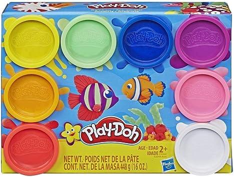 Play-Doh Pack 8 Botes Arcoiris (Hasbro E5062ES0): Amazon.es ...