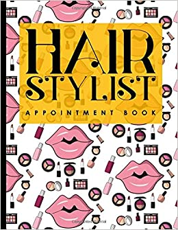 hair stylist appointment book 2 columns appointment log book