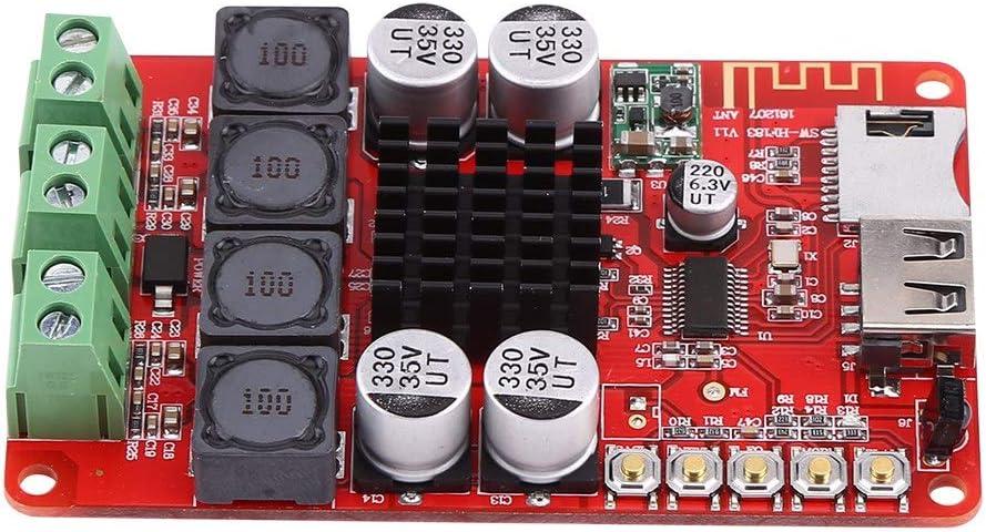 D/écodeur Module,50W+50W Bluetooth Audio Amplificateur Portable TF Carte D/écodeur avec T/él/écommande