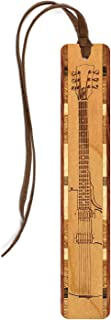 product image for Electric Guitar - Musical Instrument - Engraved Wooden Bookmark with Suede Tassel - Search B07GTDRYN2 for Personalized Version